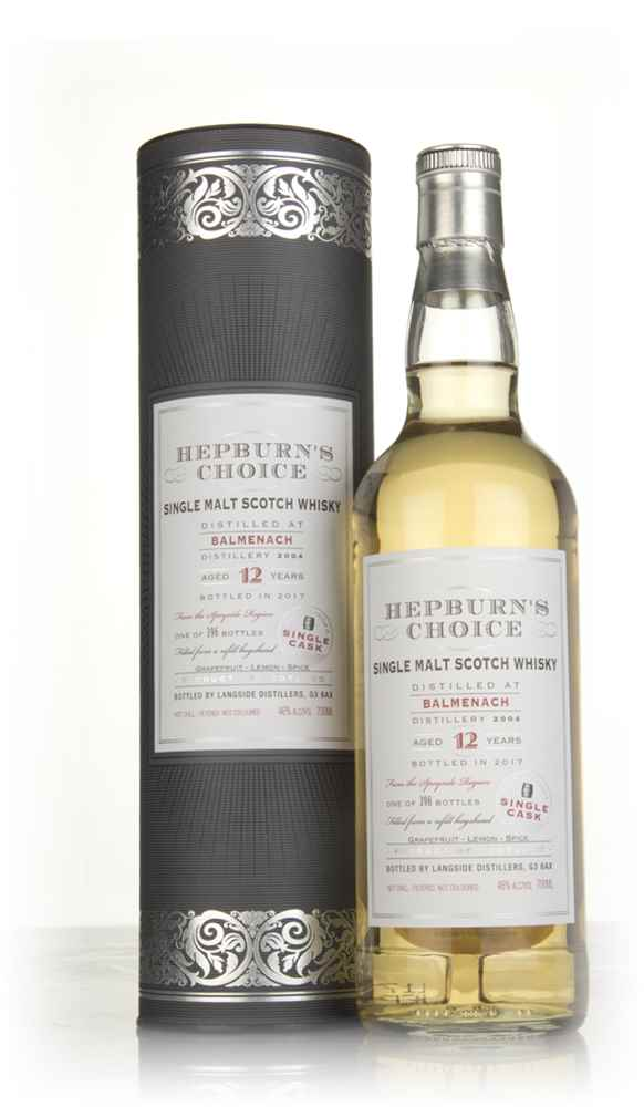 Balmenach 12 Year Old 2004 (bottled 2017) - Hepburn's Choice (Langside)