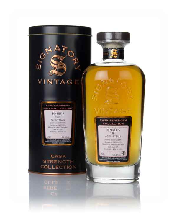 Ben Nevis 27 Year Old 1991 (cask 2381) - Cask Strength Collection (Signatory)