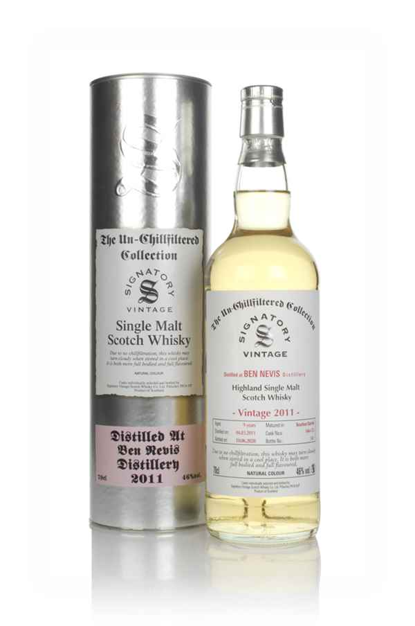 Ben Nevis 9 Year Old 2011 (casks 146 & 155) - Un-Chillfiltered Collection (Signatory)