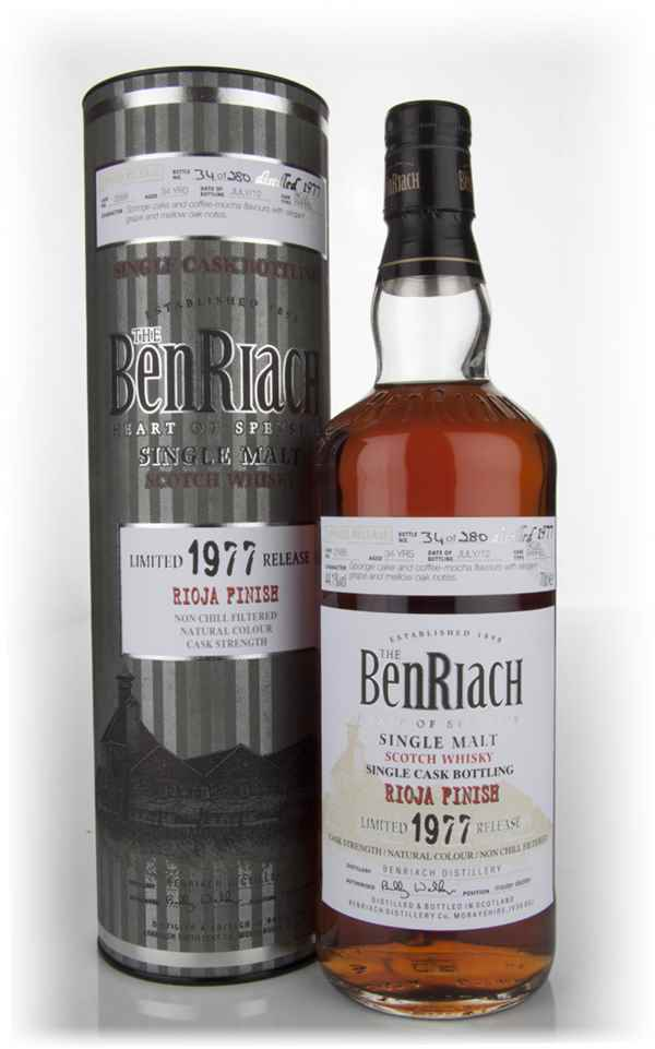BenRiach 34 Year Old 1977 Rioja Barrel