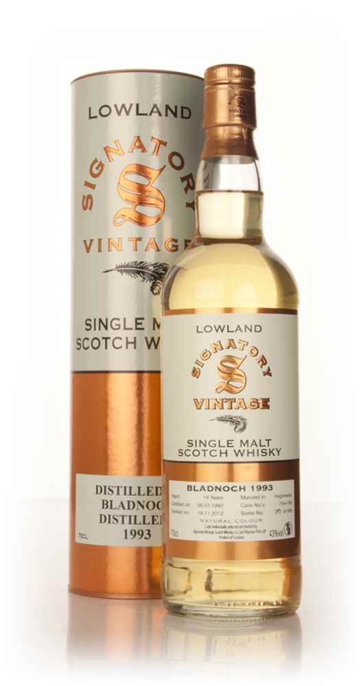 Bladnoch 19 Year Old 1993 (casks 759+766) - (Signatory)