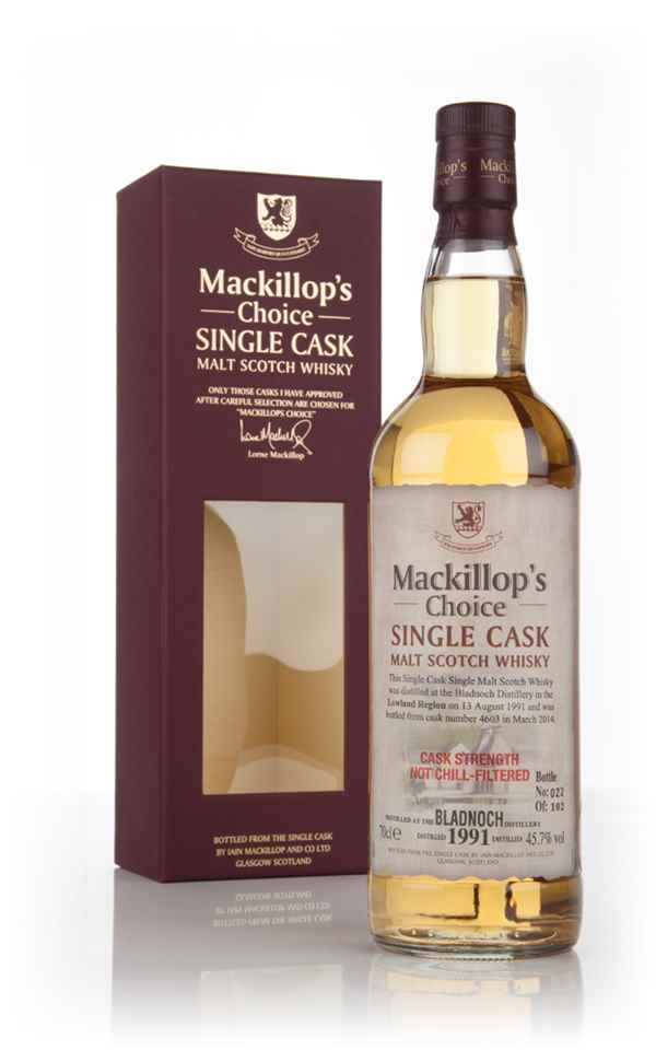 Bladnoch 22 Year Old 1991 (cask 4603) - Mackillop's Choice