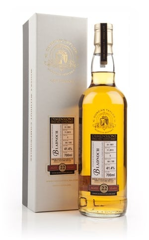 Bladnoch 22 Year Old 1991 (cask 5) - Dimensions (Duncan Taylor)