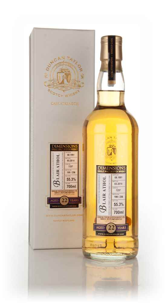 Blair Athol 22 Year Old 1991 (cask 7237) - Dimensions (Duncan Taylor)