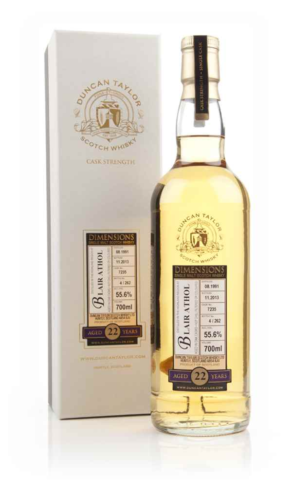 Blair Athol 22 Year Old 1991 (cask 7235) - Dimensions (Duncan Taylor)