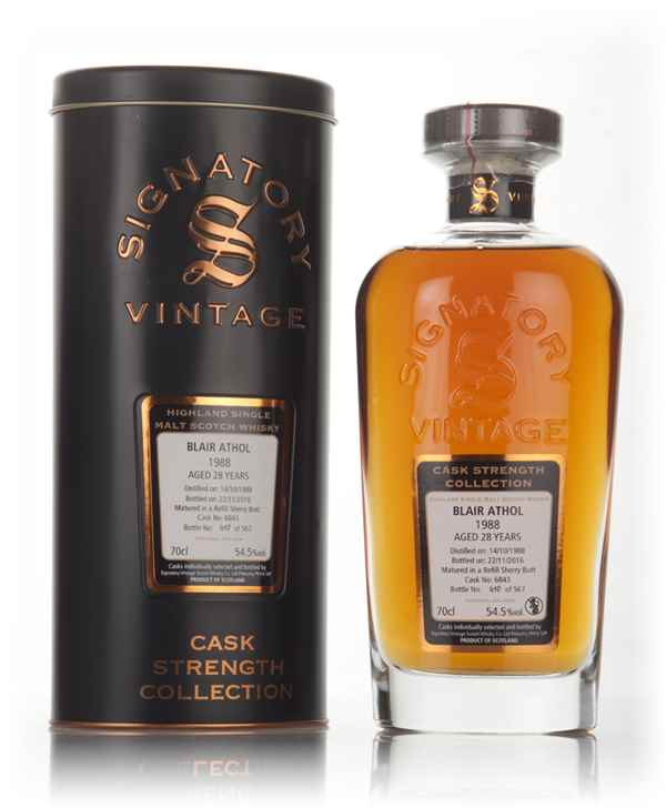 Blair Athol 28 Year Old 1988 (cask 6843) - Cask Strength Collection (Signatory)