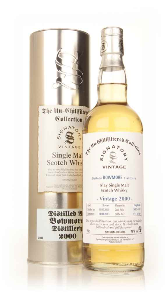 Bowmore 13 Year Old 2000 (casks 1432+1433) - Un-Chillfiltered Collection (Signatory)