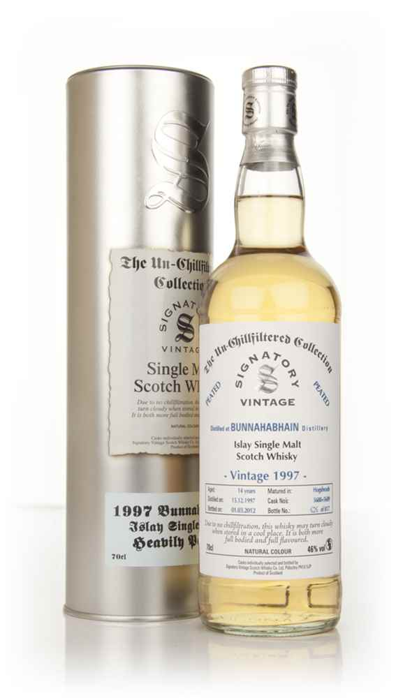 Bunnahabhain 14 Year Old 1997 - Heavily Peated - Un-Chillfiltered (Signatory)