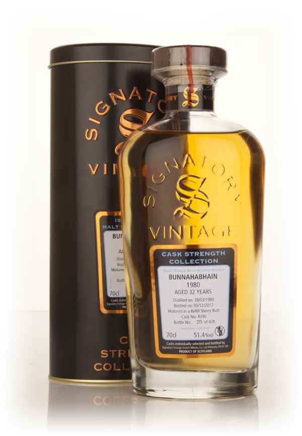 Bunnahabhain 32 Year Old 1980 (cask 4390) - Cask Strength Collection (Signatory)