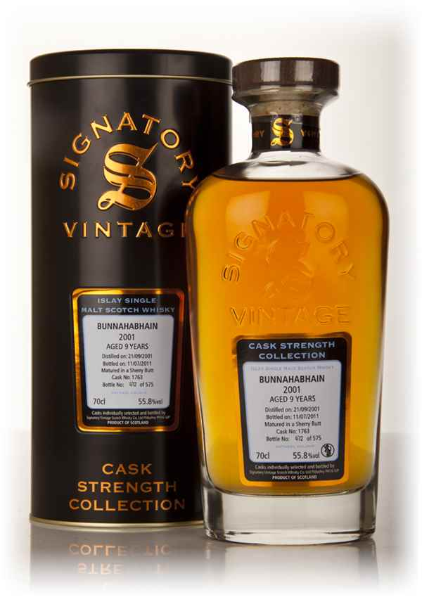 Bunnahabhain 9 Year Old 2001 Cask 1763 - Cask Strength Collection (Signatory)