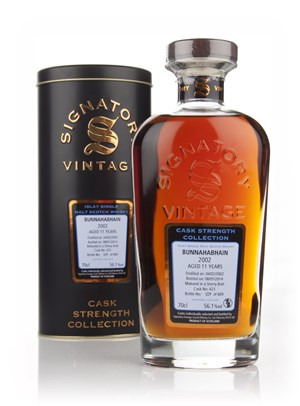 Bunnahabhain 11 Year Old 2002 (cask 423) - Cask Strength Collection (Signatory)
