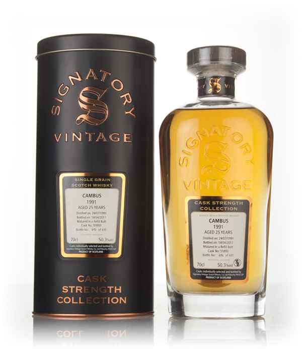 Cambus 25 Year Old 1991 (cask 55893) - Cask Strength Collection (Signatory)