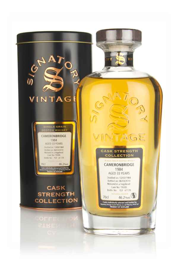 Cameronbridge 33 Year Old 1984 (cask 19306) - Cask Strength Collection (Signatory)