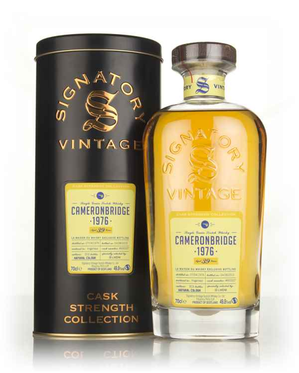 Cameronbridge 39 Year Old 1976 (cask 900007) - Cask Strength Collection (Signatory)