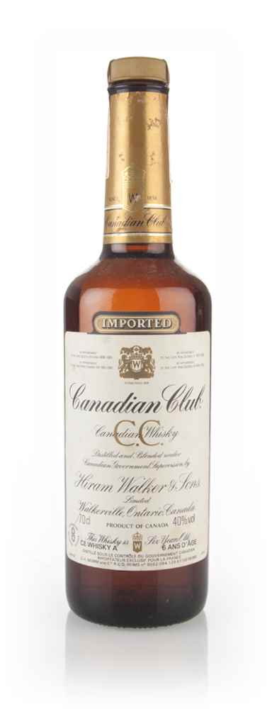 Canadian Club 6 Year Old Whisky - 1980s