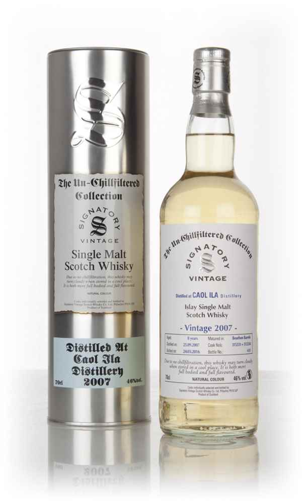 Caol Ila 8 Year Old 2007 (casks 315331 & 315334) - Un-Chillfiltered Collection (Signatory)