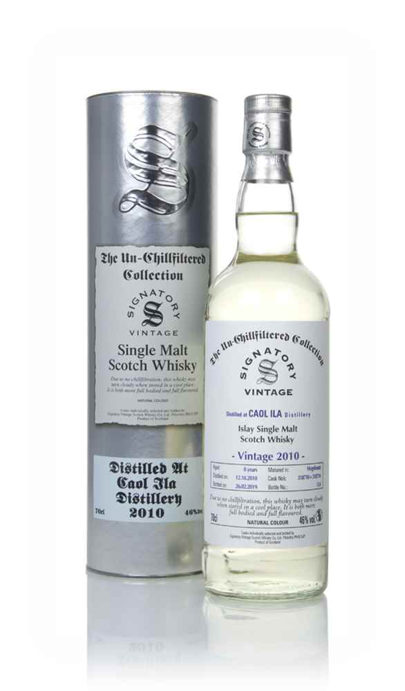 Caol Ila 8 Year Old 2010 (casks 318710 & 318714) - Un-Chillfiltered Collection (Signatory)