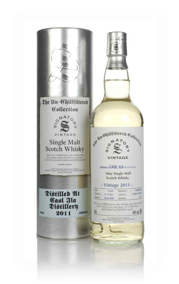 Caol Ila 8 Year Old 2011 (casks 315836 & 315847) - Un-Chillfiltered Collection (Signatory)