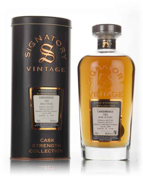 Carsebridge 34 Year Old 1982 (cask 74689) - Cask Strength Collection (Signatory)