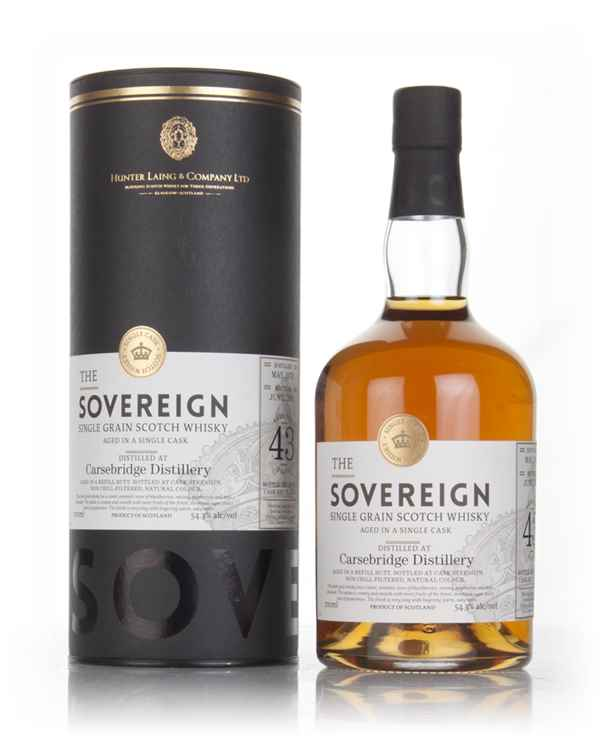 Carsebridge 43 Year Old 1973 (cask 12653) - The Sovereign (Hunter Laing)