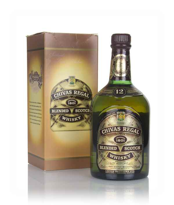 Chivas Regal 12 Year Old - Renfrew Road Silver Jubilee -1980s