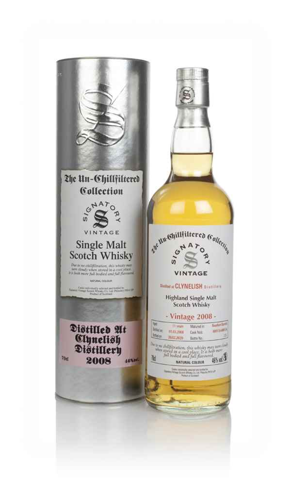Clynelish 11 Year Old 2008 (casks 800118 & 800134) - Un-Chillfiltered Collection (Signatory)