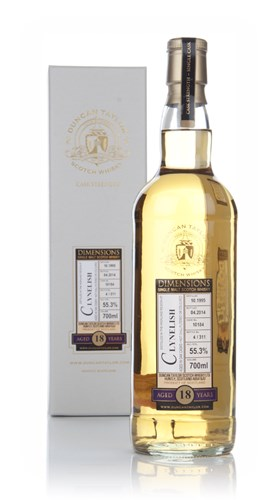 Clynelish 18 Year Old 1995 (cask 10184) - Dimensions (Duncan Taylor)