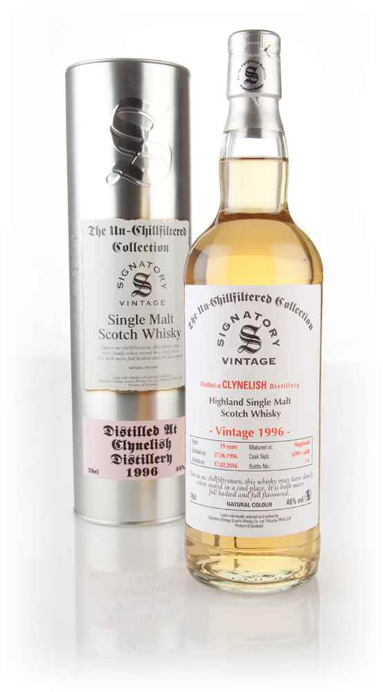 Clynelish 19 Year Old 1996 (cask 6399 & 6400) - Un-Chillfiltered (Signatory)