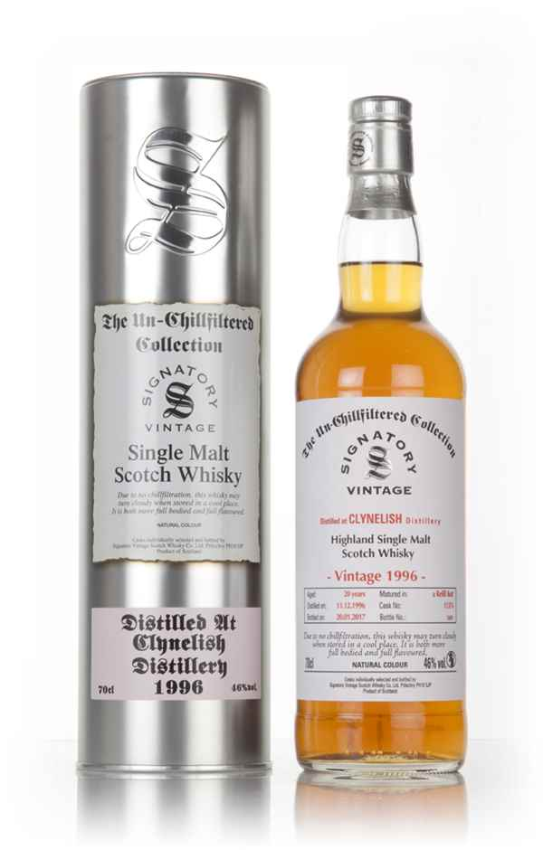 Clynelish 20 Year Old 1996 (casks 11376) - Un-Chillfiltered Collection (Signatory)
