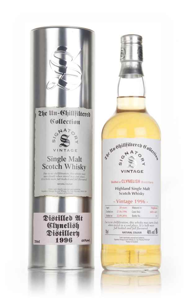 Clynelish 20 Year Old 1996 (casks 6410 & 6411) - Un-Chillfiltered Collection (Signatory)