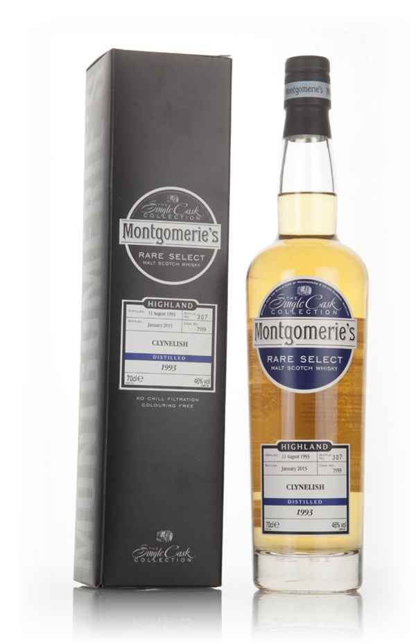 Clynelish 21 Year Old 1993 (cask 7559) -  Rare Select (Montgomerie's)