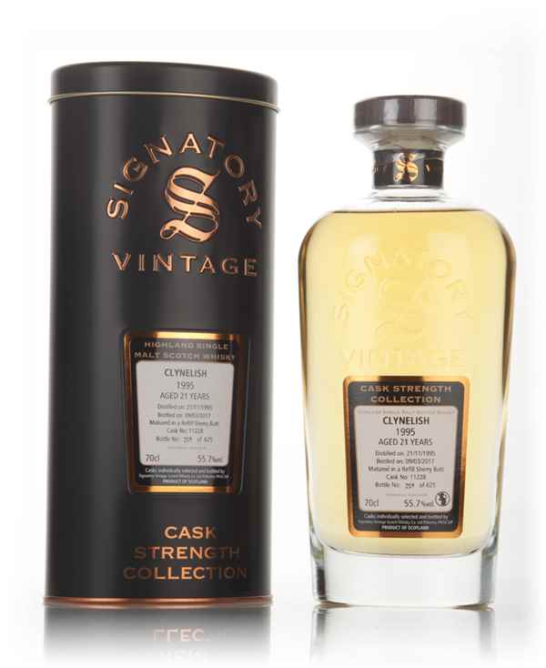 Clynelish 21 Year Old 1995 (cask 11228) - Cask Strength Collection (Signatory)