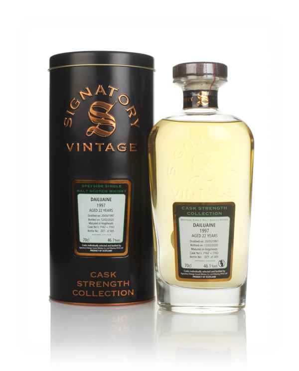 Dailuaine 22 Year Old 1997 (casks 7162 & 7163) - Cask Strength Collection (Signatory)