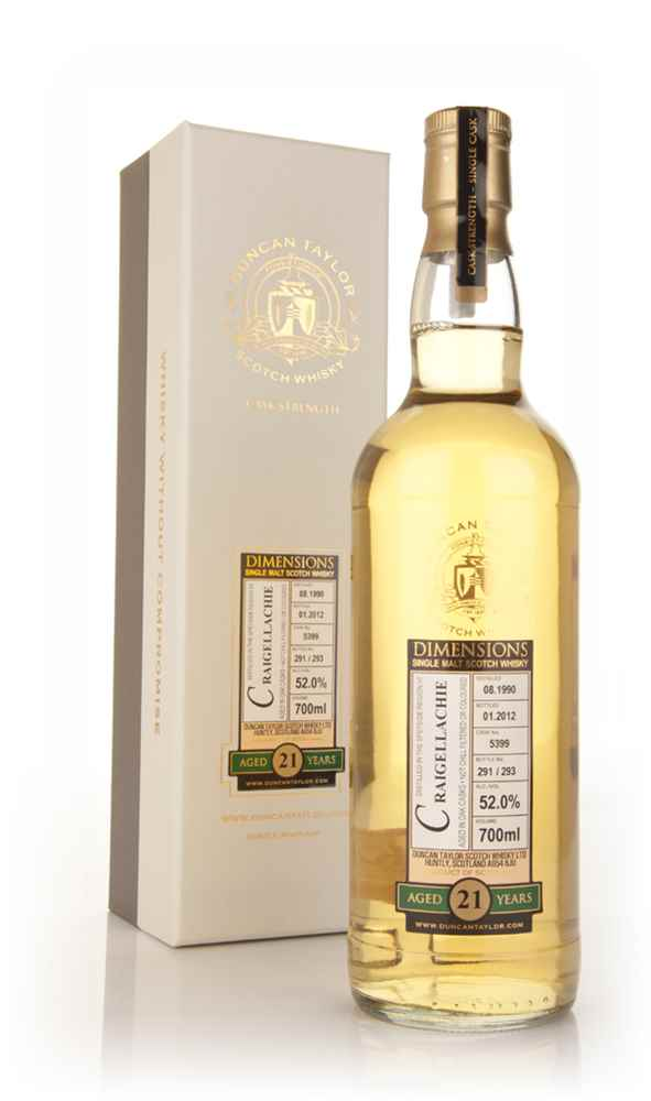 Craigellachie 21 Year Old 1990 - Dimensions (Duncan Taylor)
