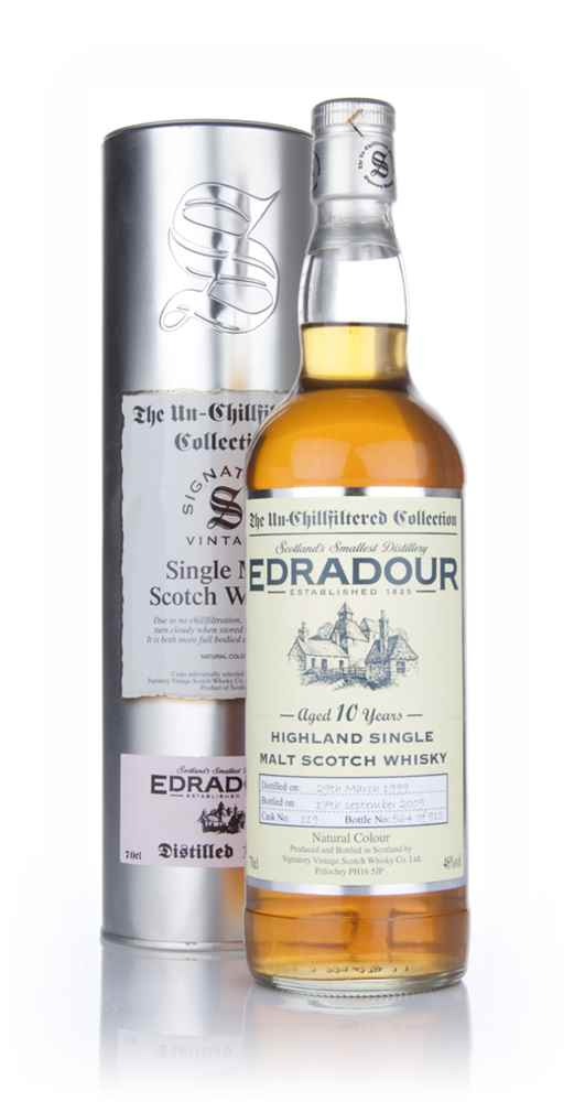 Edradour 10 Year Old 1999 - Un-Chillfiltered (Signatory)