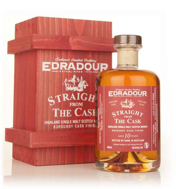 Edradour 10 Year Old 2002 Burgundy Cask Finish - Straight from the Cask 58.5%