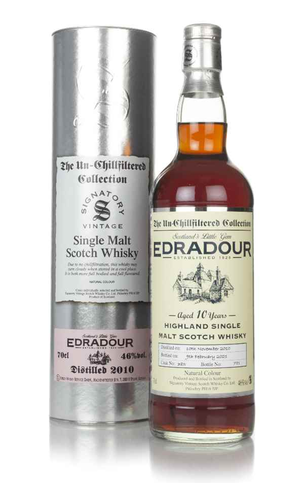 Edradour 10 Year Old 2010 (cask 385) - Un-Chillfiltered Collection (Signatory)