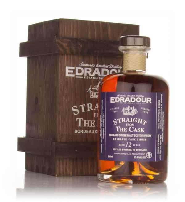 Edradour 12 Year Old 1998 Bordeaux Cask Finish - Straight from the Cask 55.6%