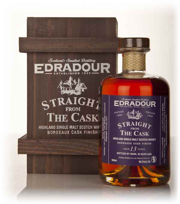 Edradour 13 Year Old 1998 Bordeaux Cask Finish - Straight from the Cask 56.2%