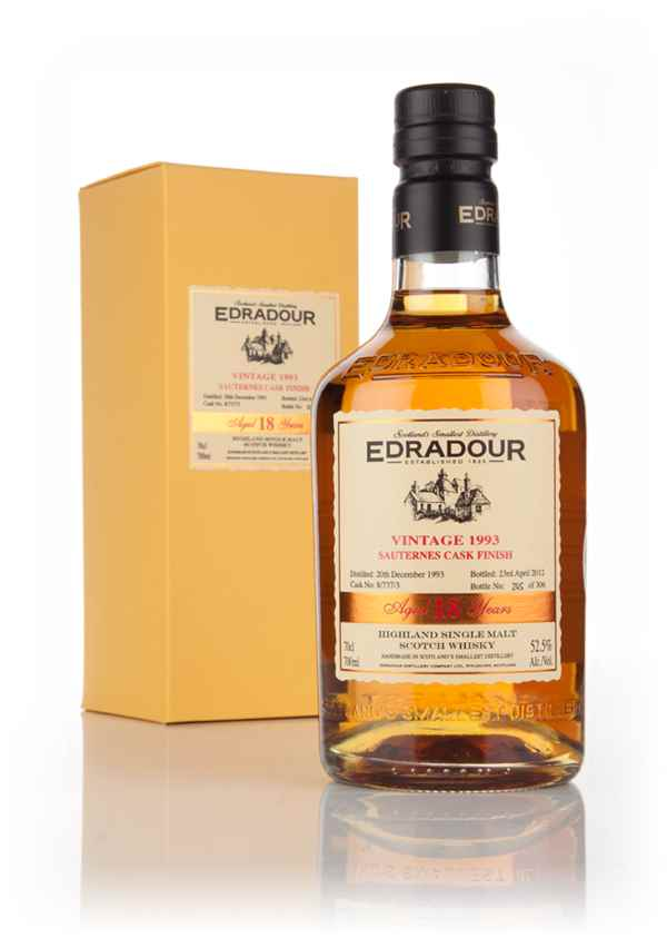 Edradour 18 Year Old 1993 (cask 8/737/3) Sauturnes Finish Cask