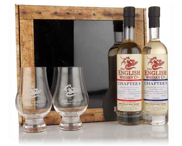 English Whisky Co. Gift Pack - Chapters 6 & 9 with 2x Glasses