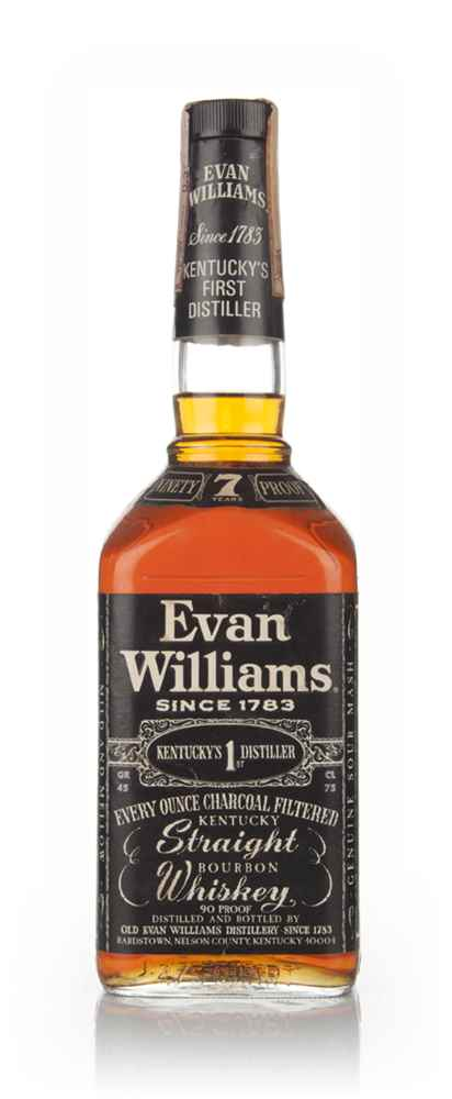 Evan Williams 7 Year Old Kentucky Bourbon - 1972