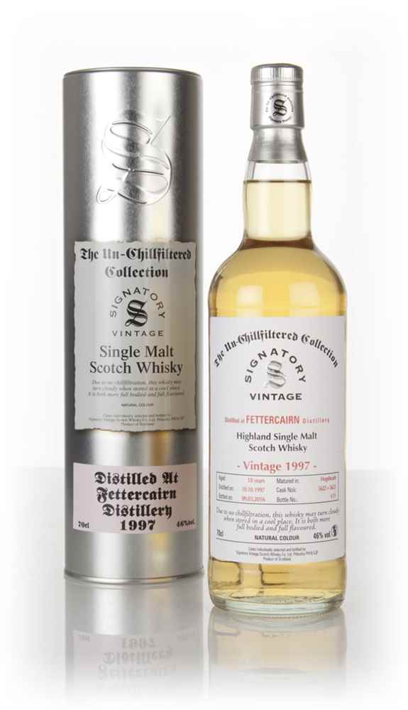 Fettercairn 18 Year Old 1997 (casks 5622 & 5623) - Un-Chillfiltered Collection (Signatory)
