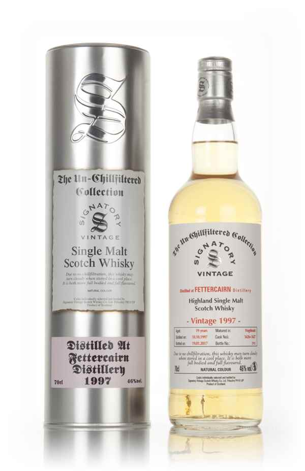 Fettercairn 19 Year Old 1997 (cask 5626 & 5627) - Un-Chillfiltered Collection (Signatory)