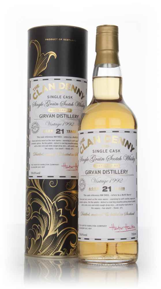 Girvan 21 Year Old 1992 (cask 9451) - The Clan Denny (Douglas Laing)