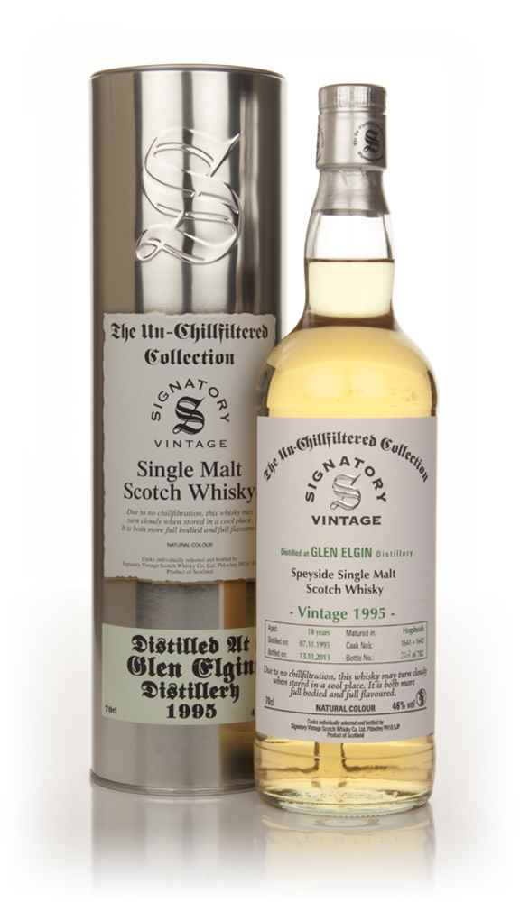 Glen Elgin 18 Year Old 1995 (casks 1641+1642) - Un-Chillfiltered (Signatory)