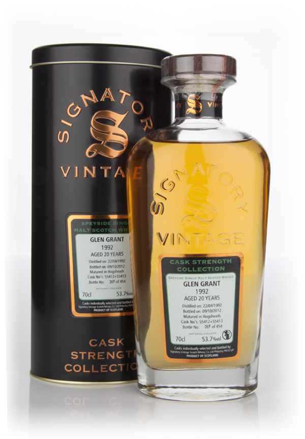 Glen Grant 20 Year Old 1992 - Cask Strength Collection (Signatory)