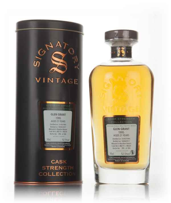 Glen Grant 21 Year Old 1995 (casks 88219 & 88220) - Cask Strength Collection (Signatory)