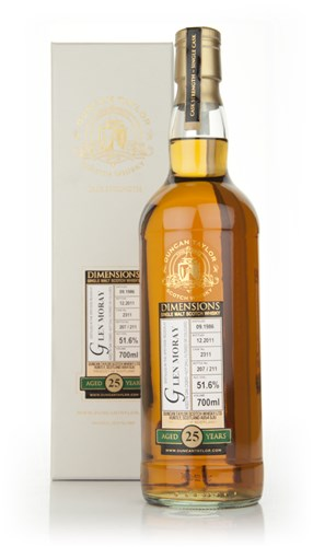 Glen Moray 25 Year Old 1986 - Dimensions (Duncan Taylor)