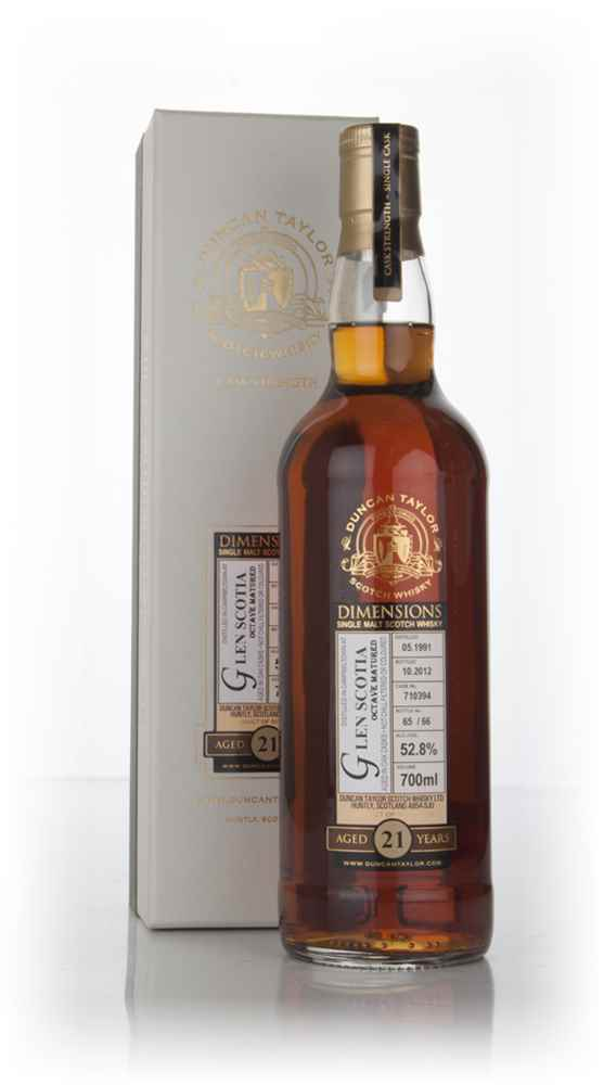 Glen Scotia 21 Year Old 1991 (cask 710394) - Dimensions (Duncan Taylor)